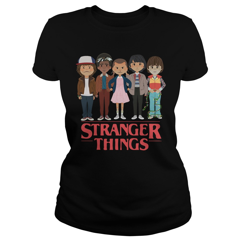 Stranger things Dustin Lucas Eleven Mike and Will Ladies tee