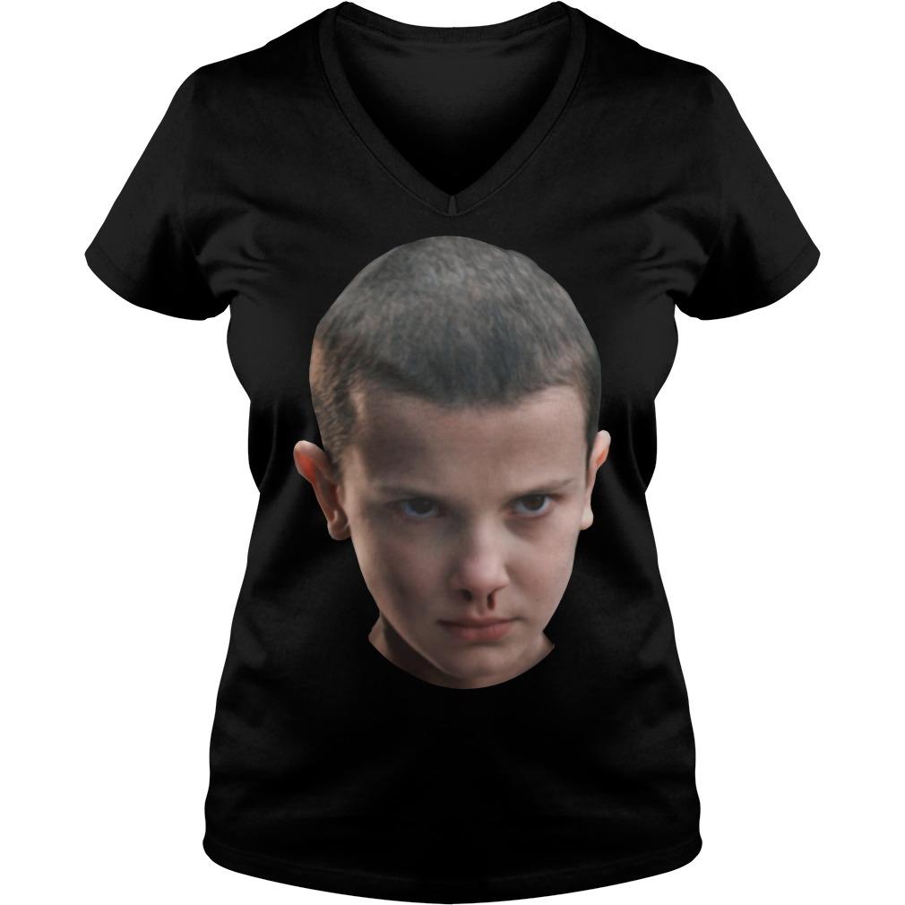 Stranger Things - Eleven's head V-neck t-shirt