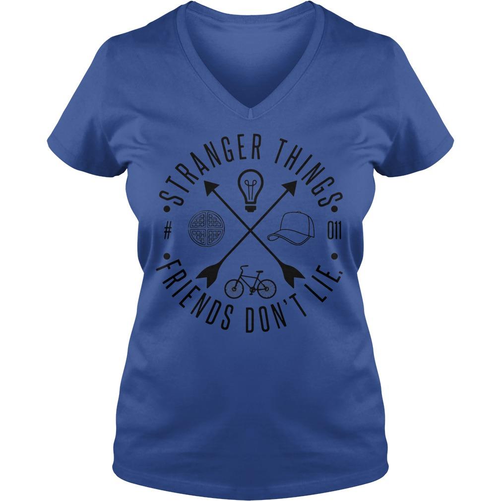 Stranger Things friends don't lie V-neck t-shirt