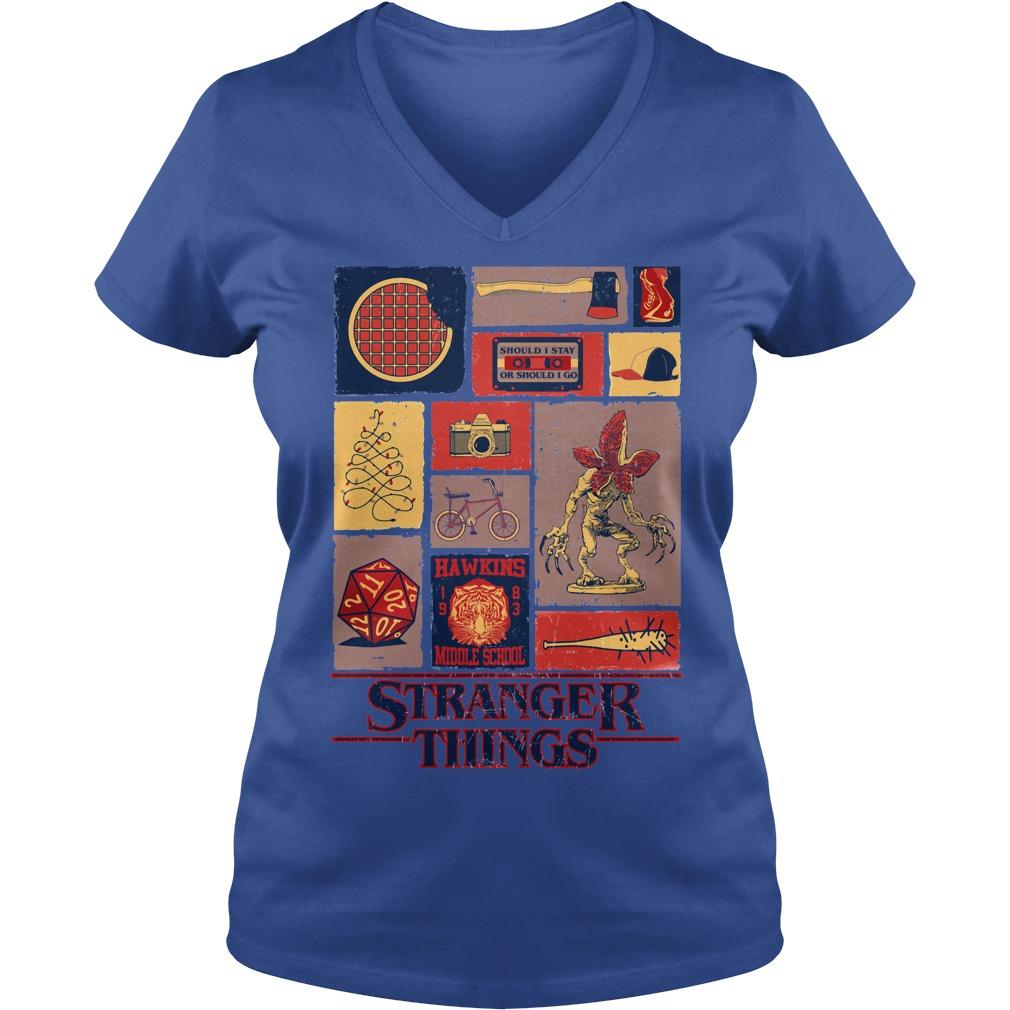 All Stranger Things season 1 V-neck t-shirt