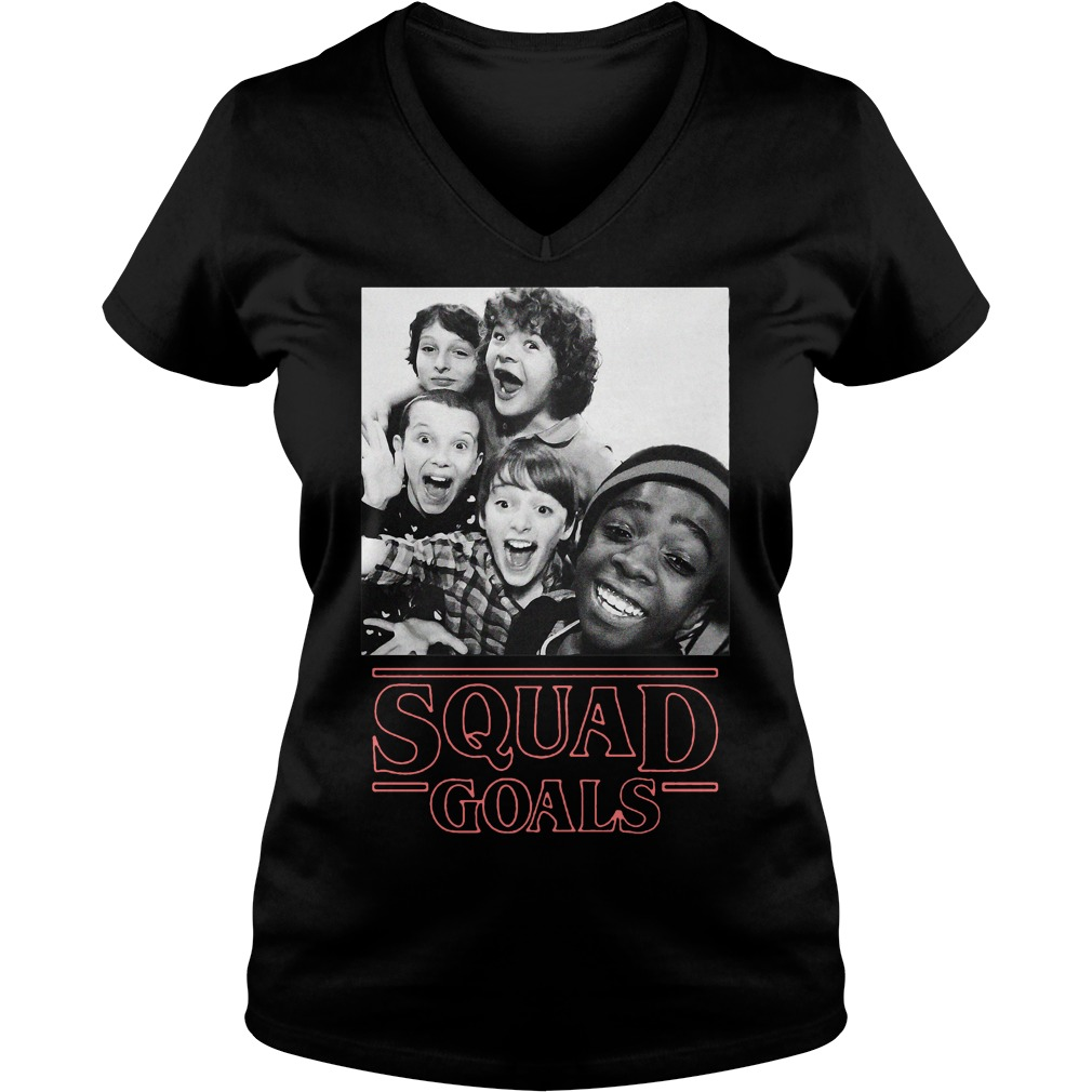 Stranger Things squad goals V-neck t-shirt