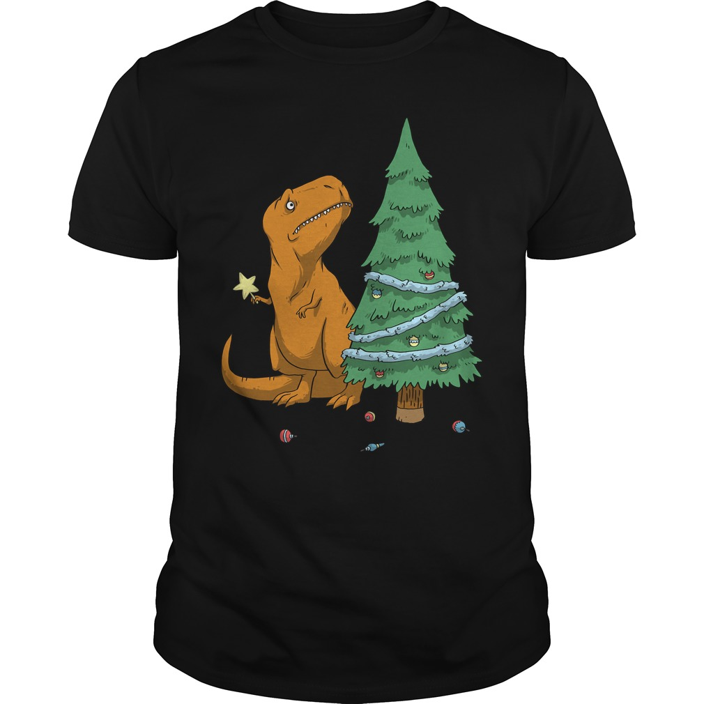 The T Rex Struggle christmas Guys shirt