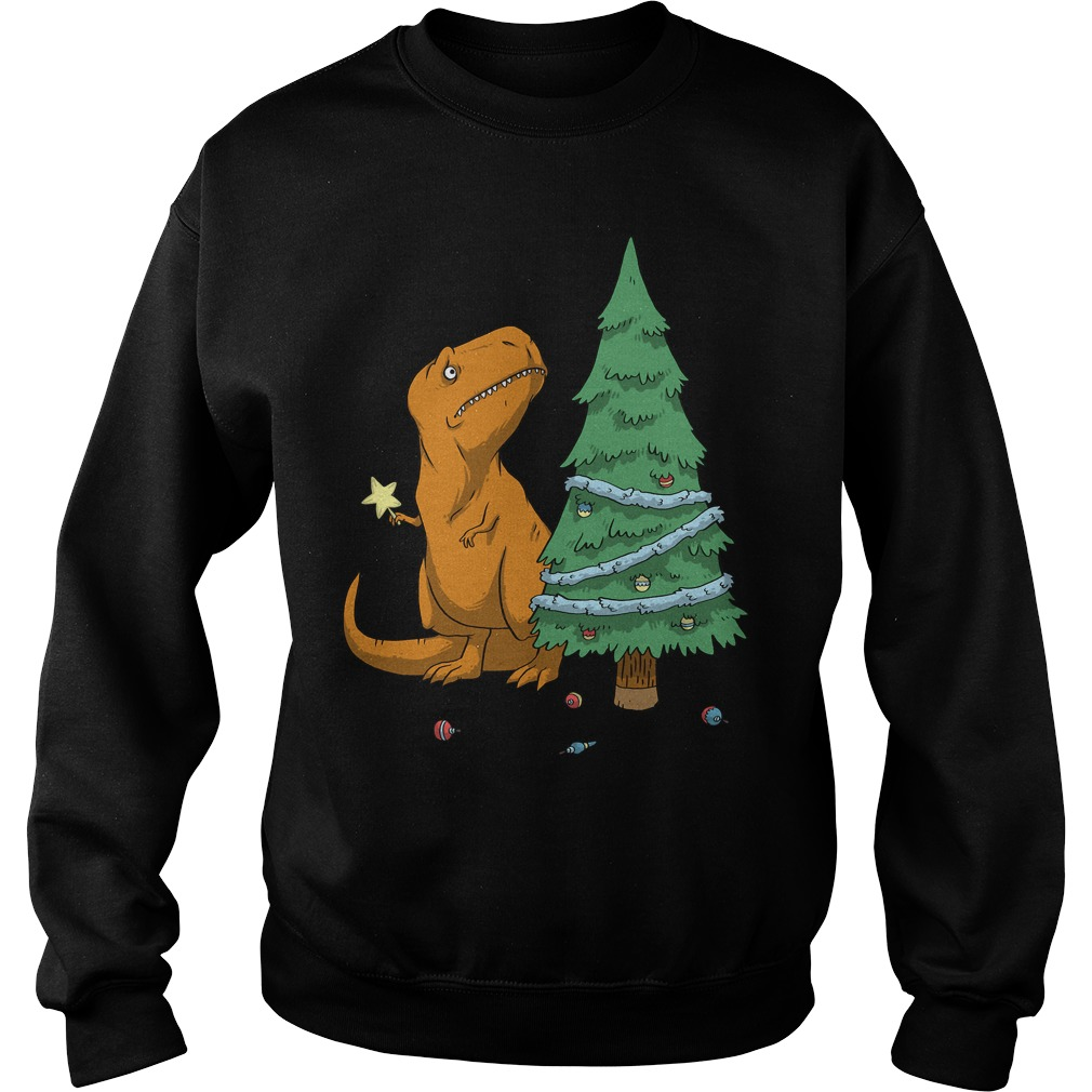 The T Rex Struggle christmas sweater
