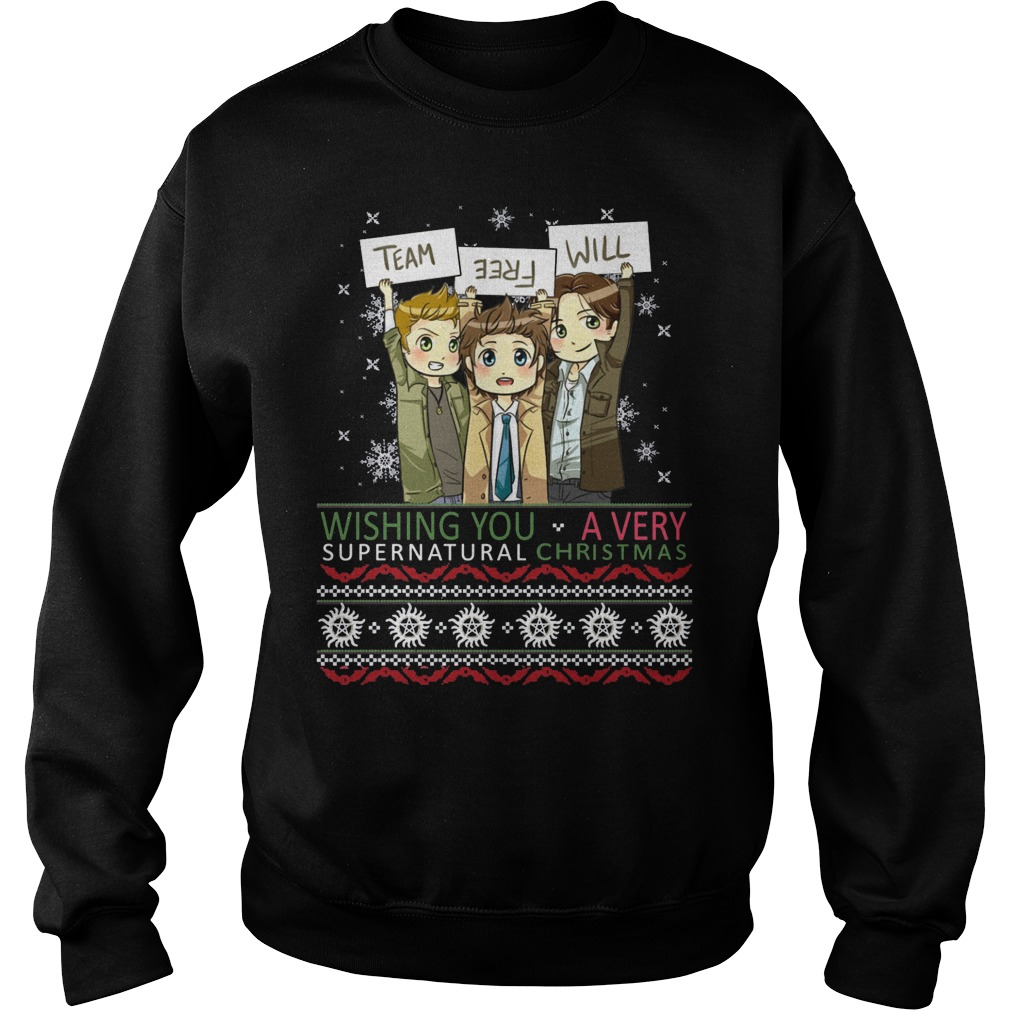 Team free will wishing you a very supernatural Christmas sweater