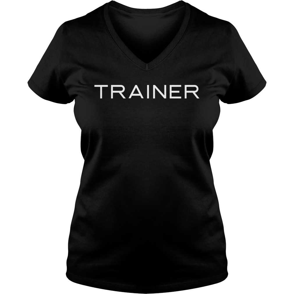 Trainer Broad City soulstice employee V-neck t-shirt