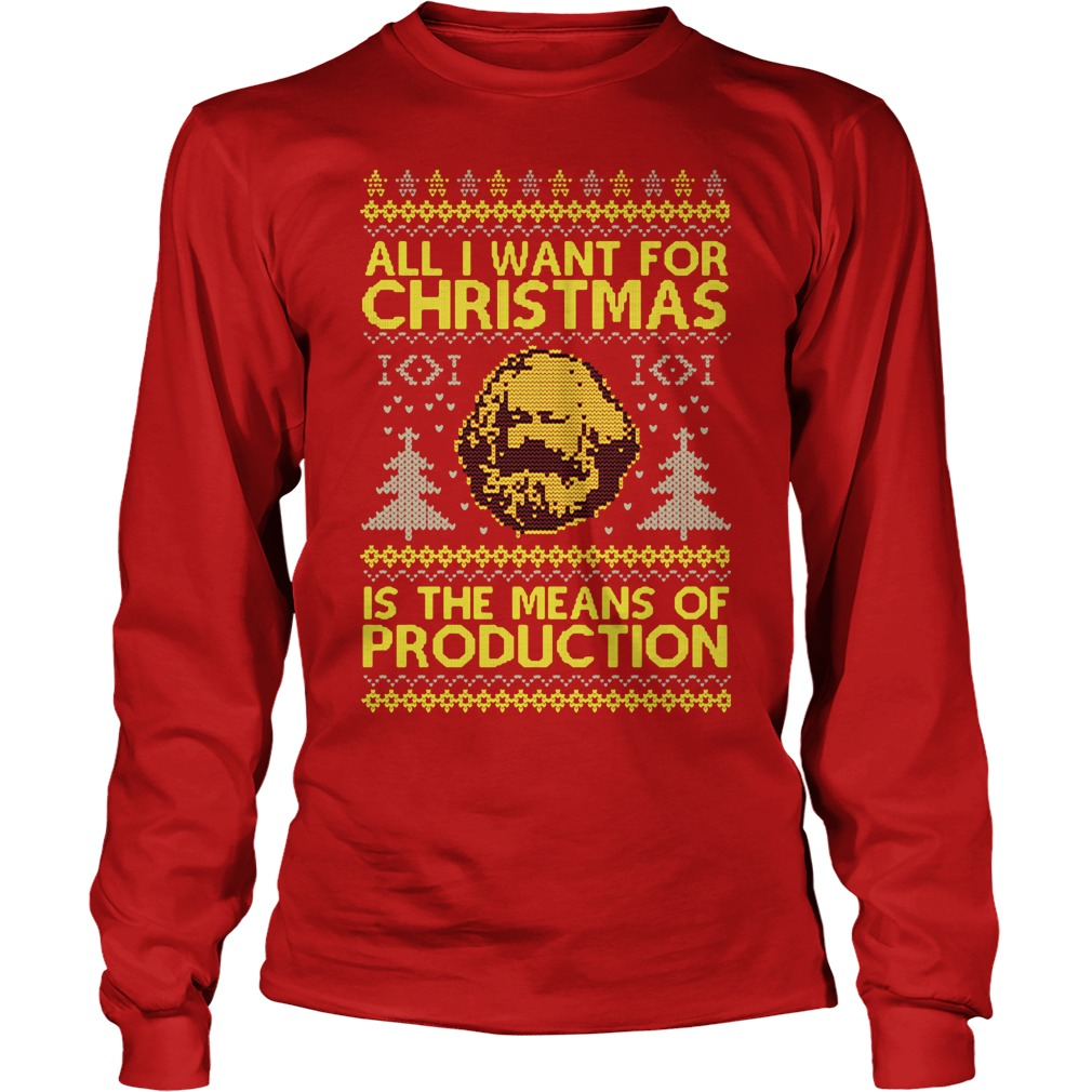All I want for christmas is the means of production Long Sleeve