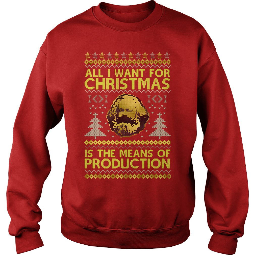 Official All I want for christmas is the means of production ugly sweater