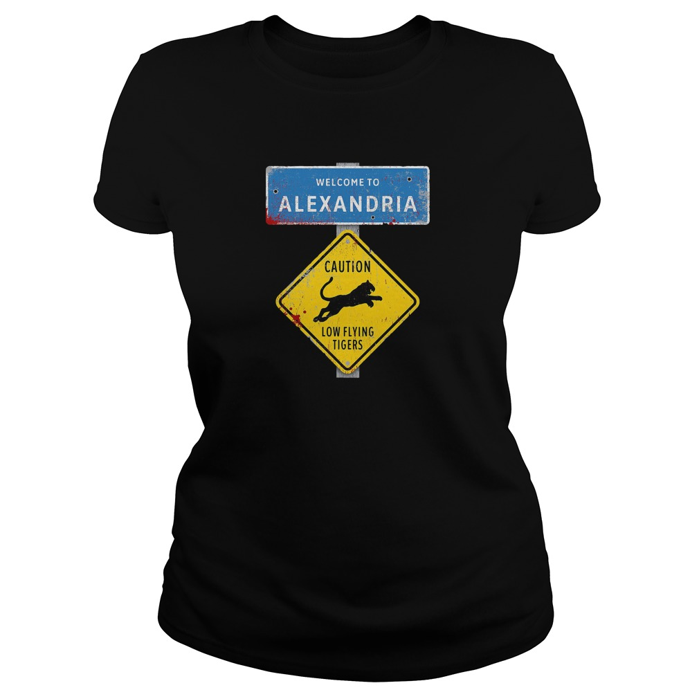 Welcome to Alexandria the Walking Dead Ladies tee