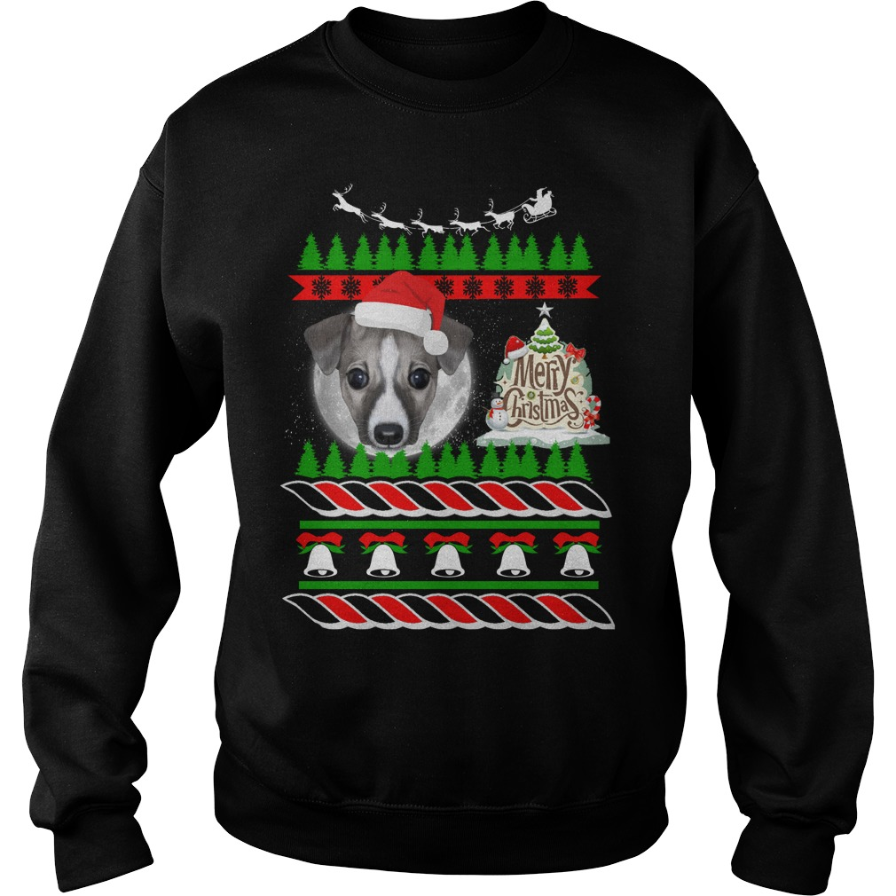 Whippet ugly Christmas sweater