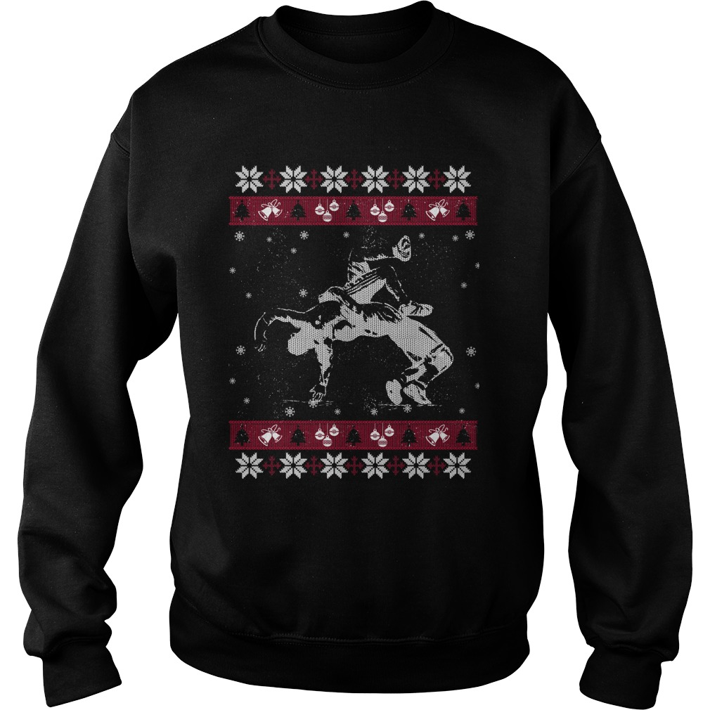 Wrestling ugly Christmas sweater