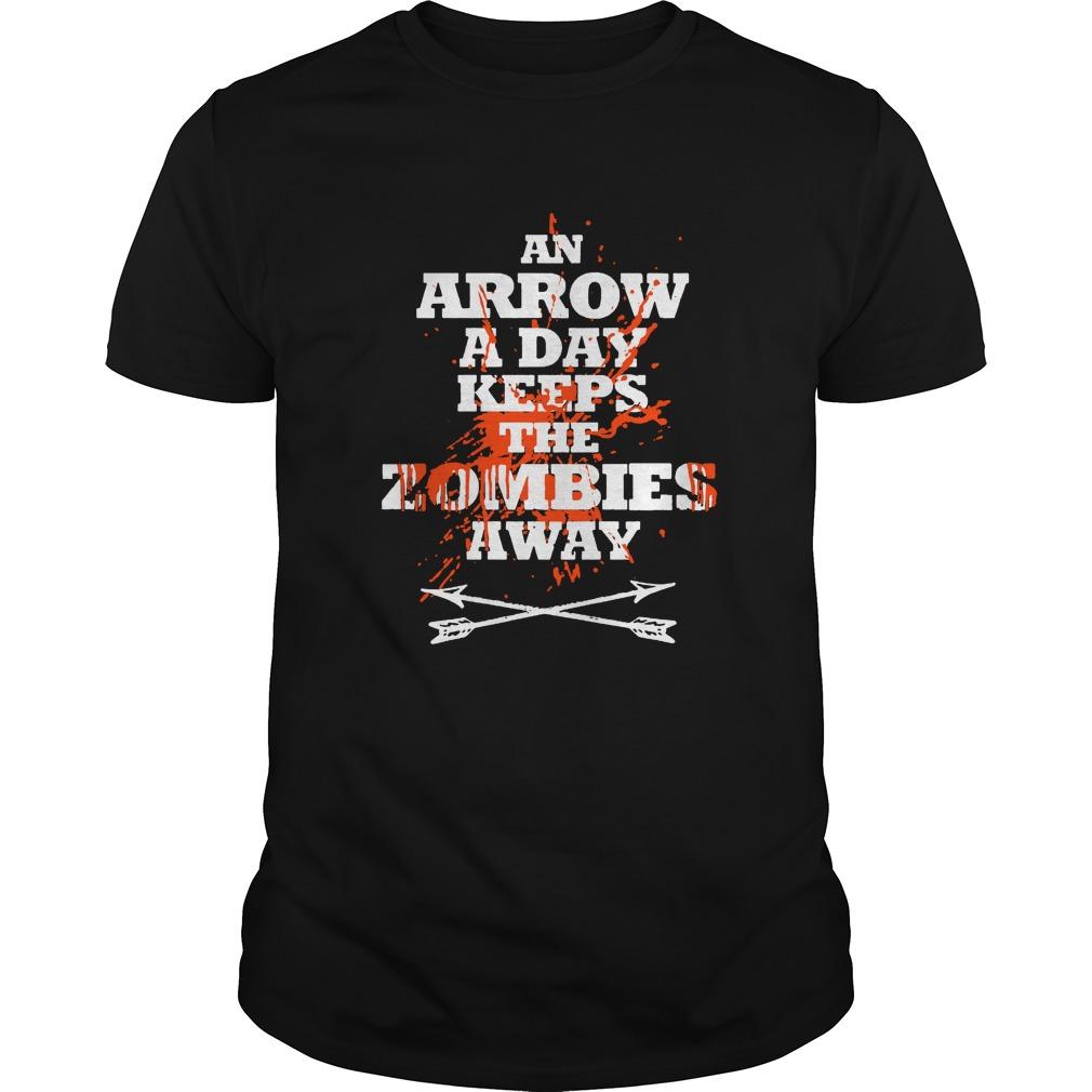 Archery-An arrow a day keeps the zombies away shirt
