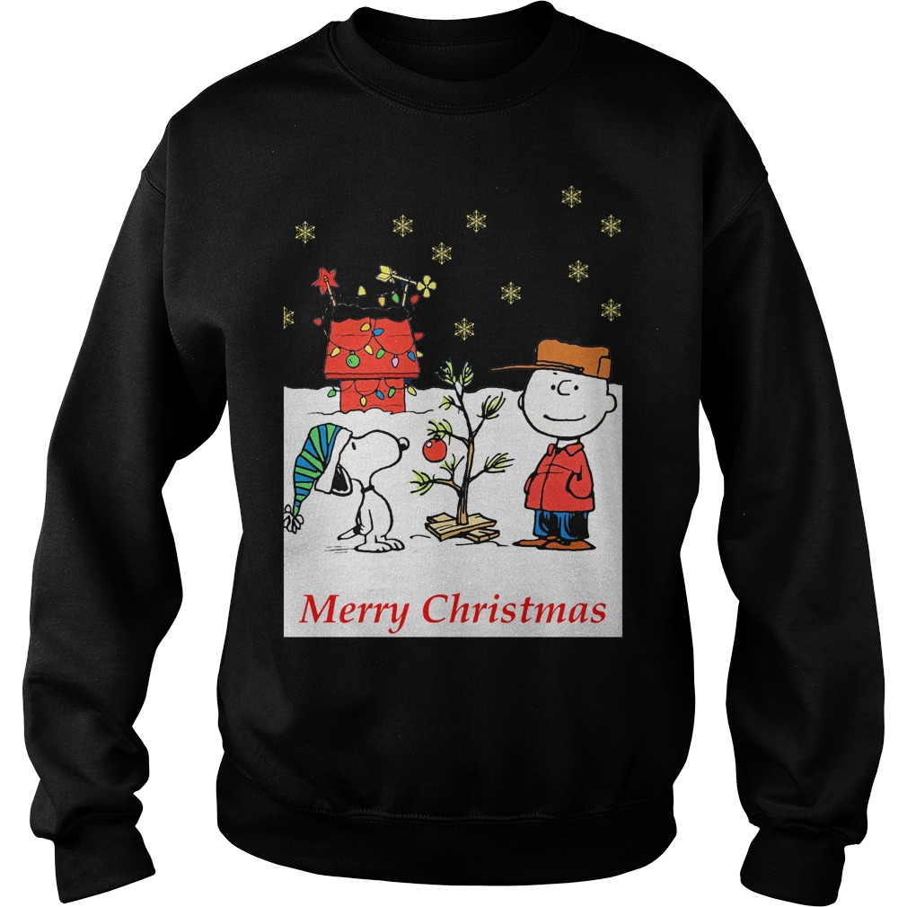 Charlie and Snoopy Christmas tree sweater