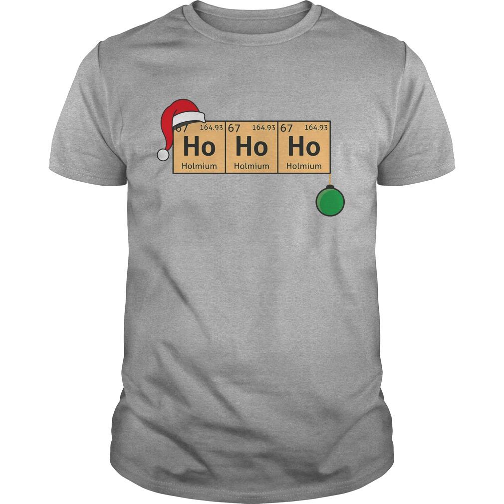 Chemistry Christmas Ho Ho Ho Guys shirt