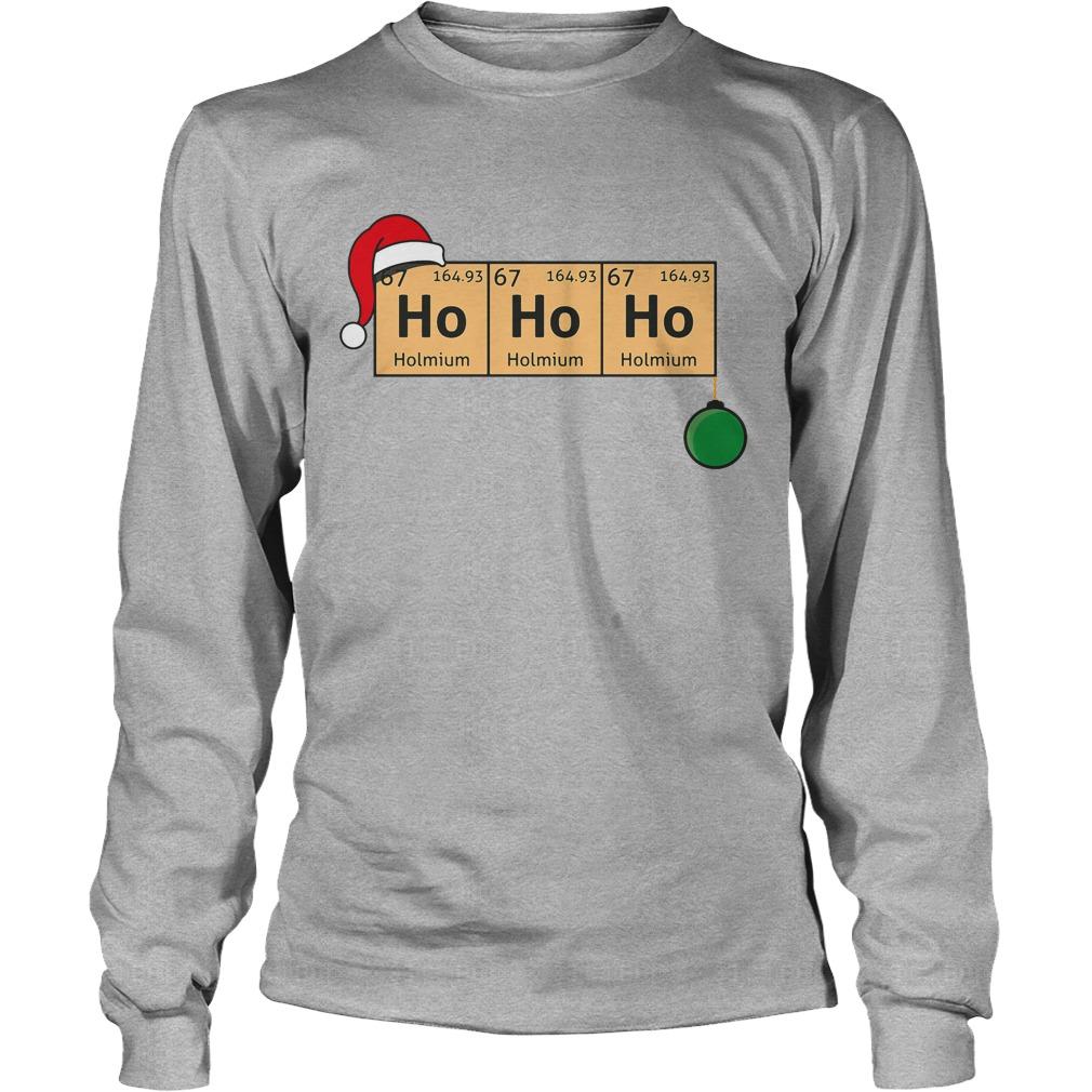 Chemistry Christmas Ho Ho Ho Longsleeve tee