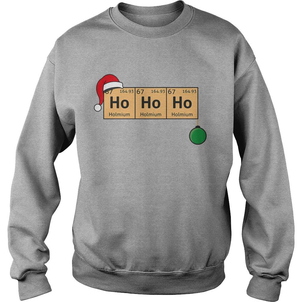 Chemistry Christmas Ho Ho Ho sweater