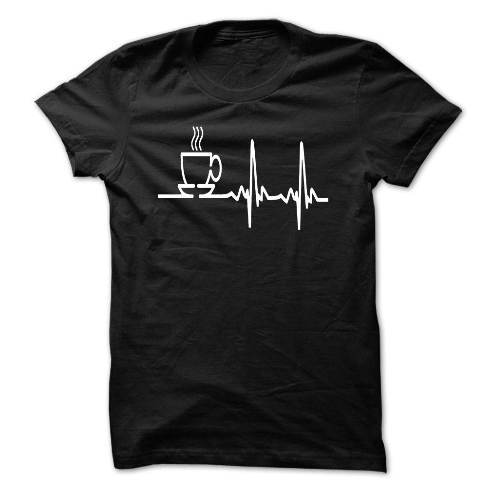 Coffee heartbeat shirt