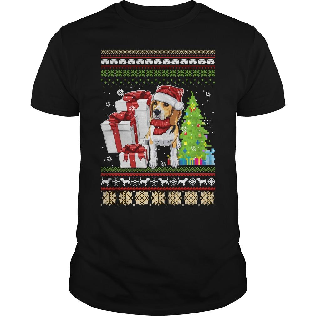Dogs ugly Christmas Guys shirt