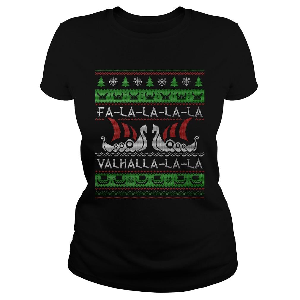 Fa la Valhalla ugly christmas Ladies tee