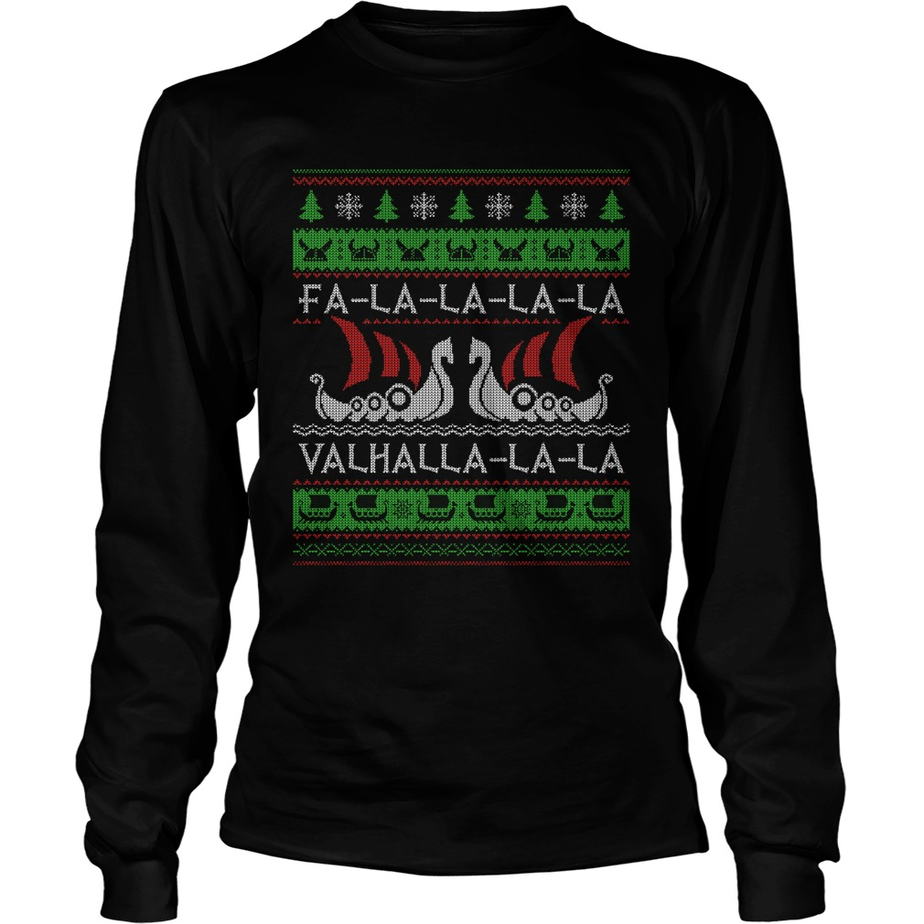 Fa la Valhalla ugly christmas Longsleeve tee