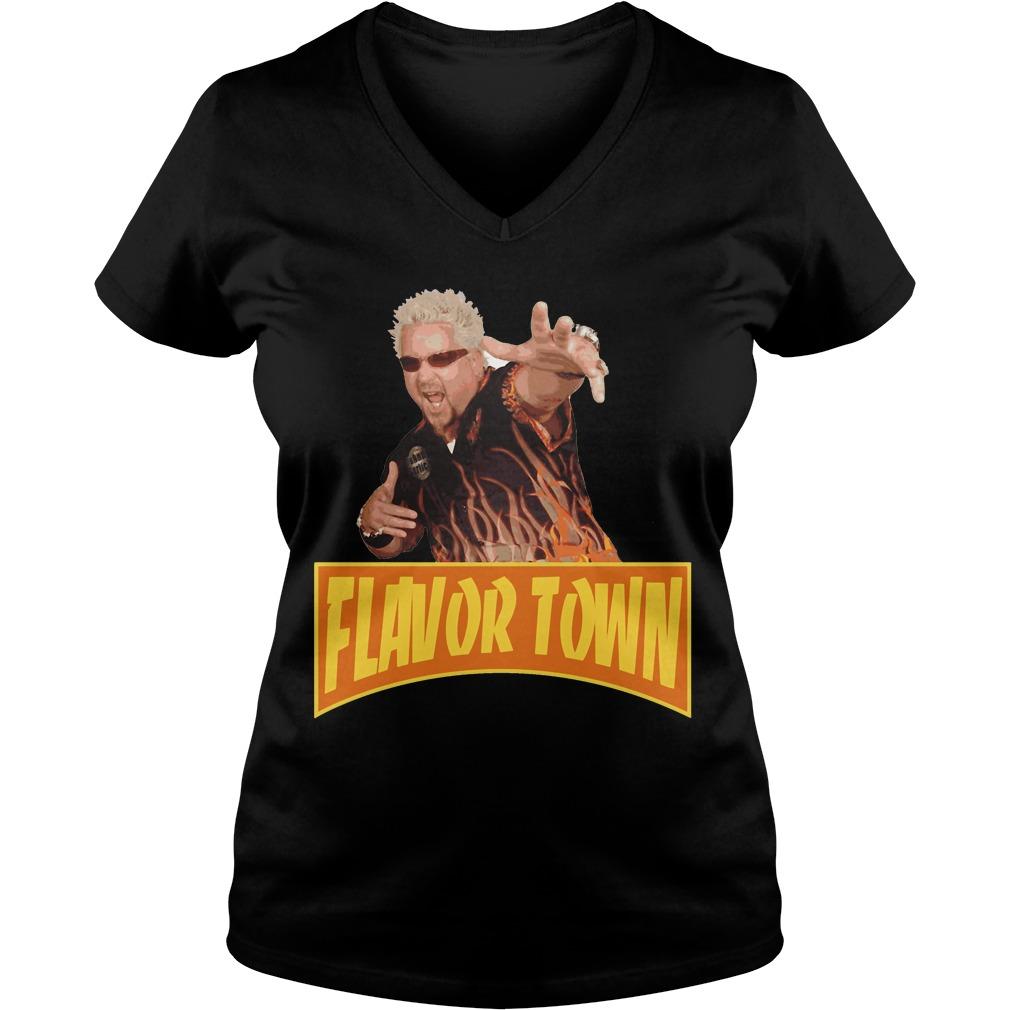 Flavor Town USA - Guy Fieri V-neck t-shirt