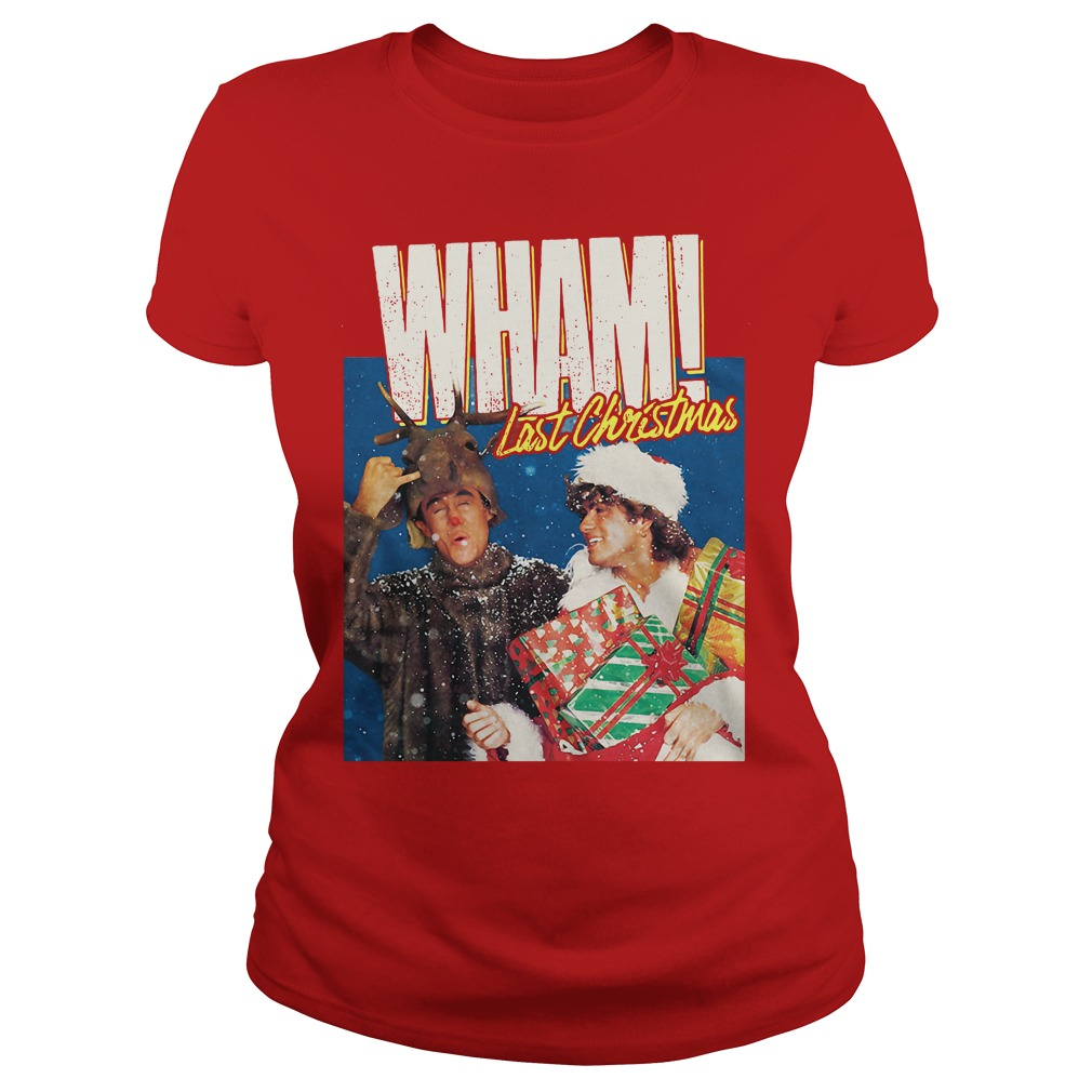 George Michael Last Christmas WHAM Ladies tee