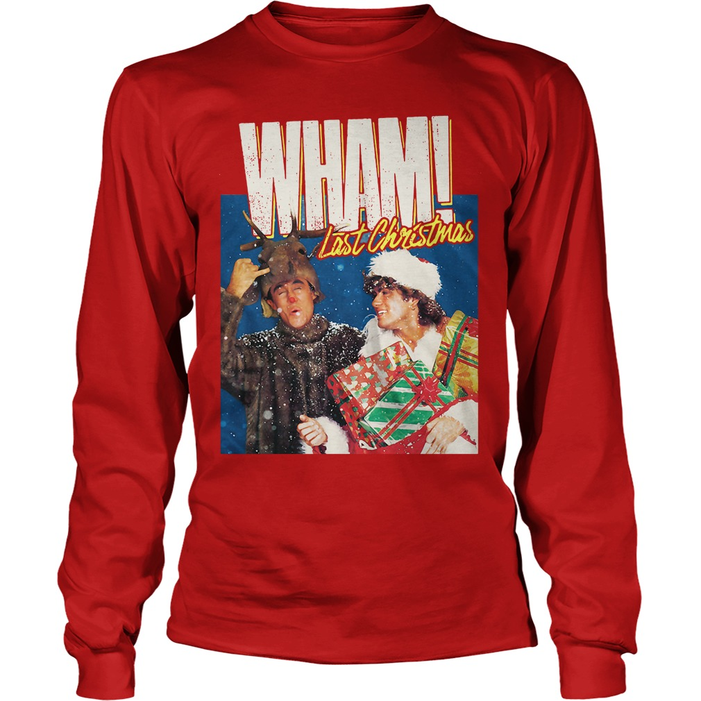 George Michael Last Christmas WHAM Longsleeve tee