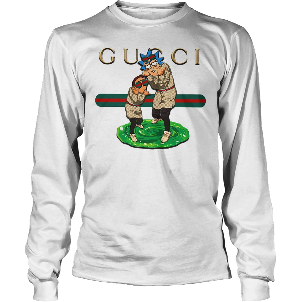 Official Gucci rick and morty Long Sleeve Shirt