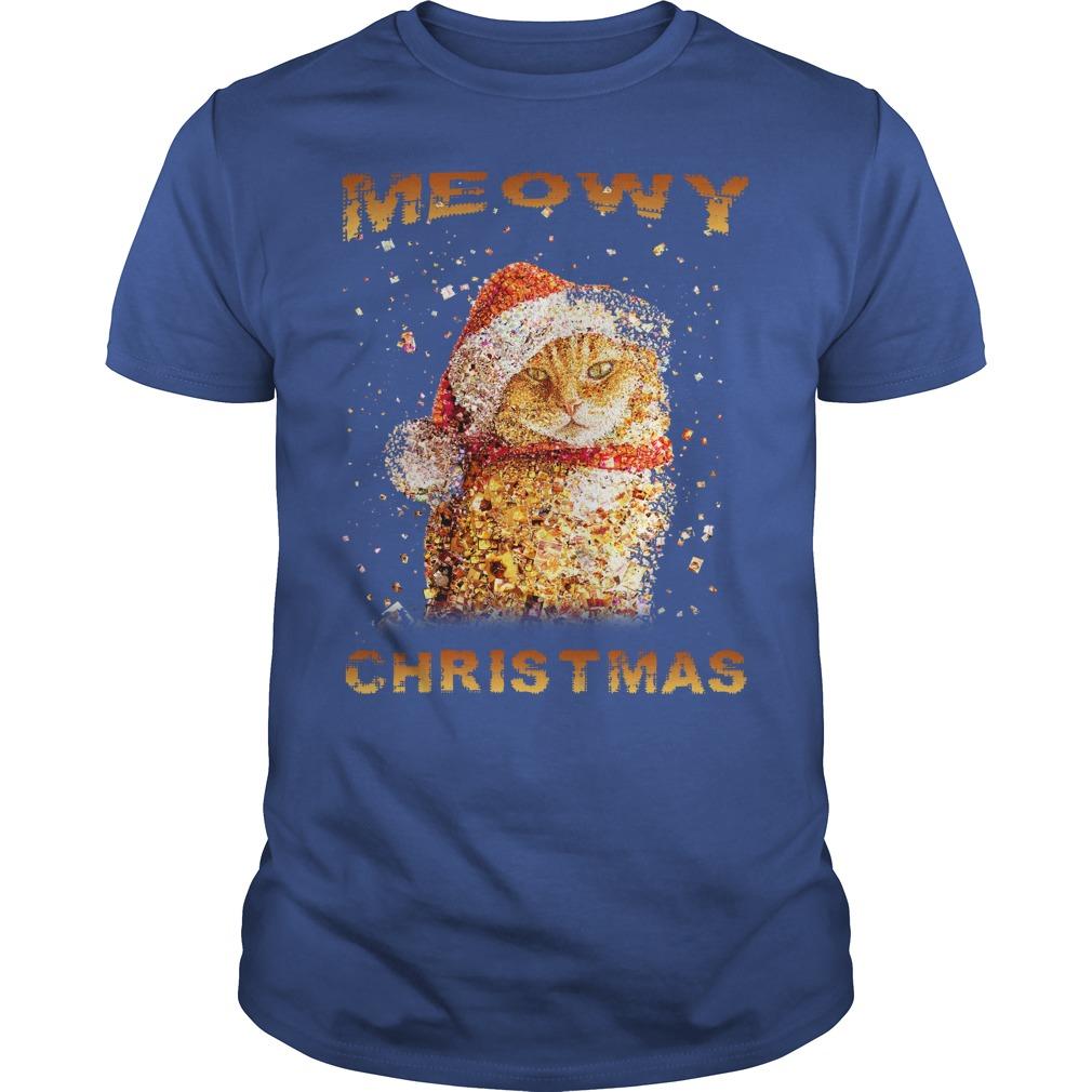 Happy Merry Christmas Meowy Guys shirt