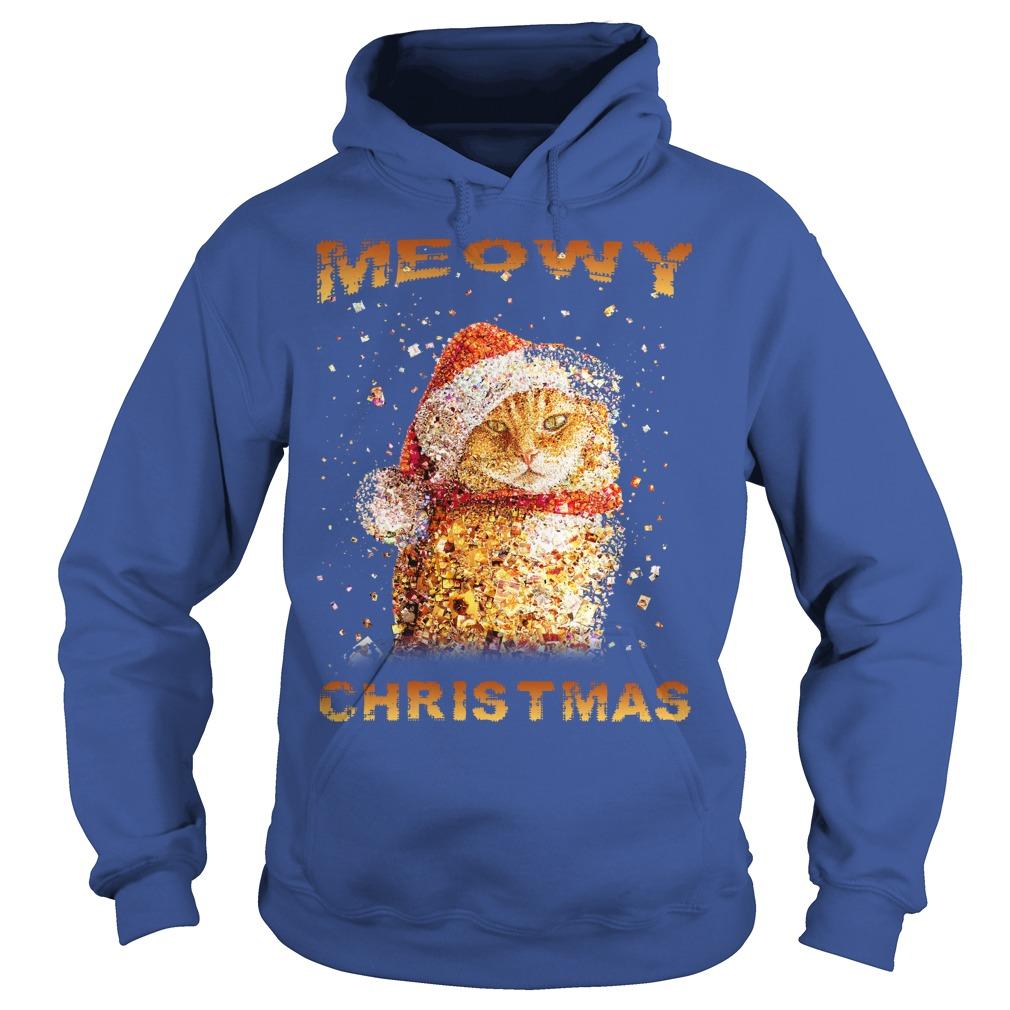 Happy Merry Christmas Meowy Hoodie