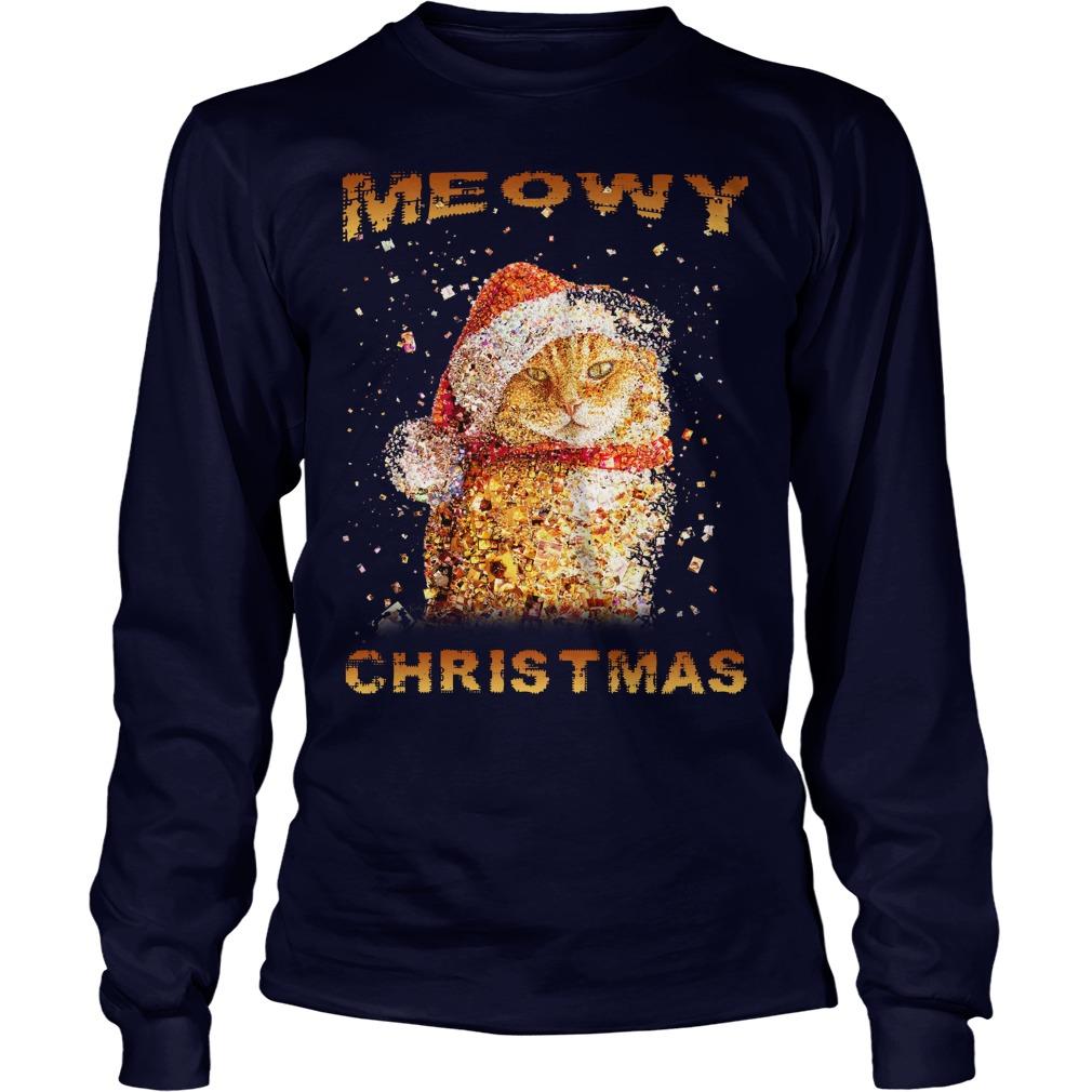 Happy Merry Christmas Meowy Longsleeve tee