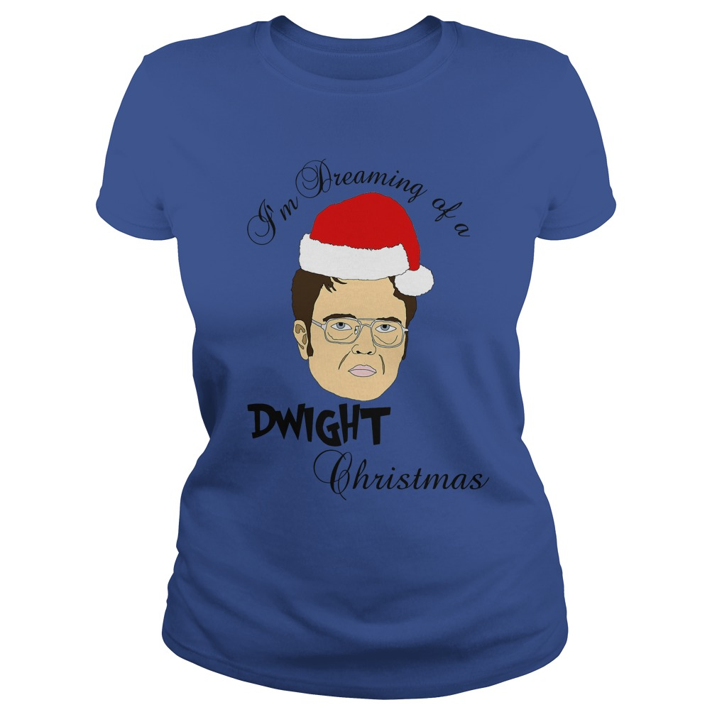 I'm dreaming of a Dwight Christmas Ladies tee