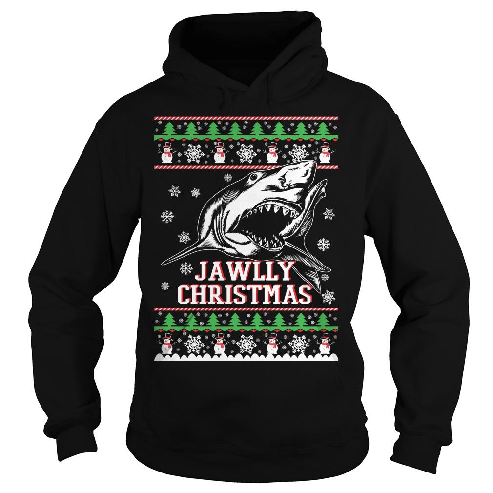 Jawlly Shark ugly christmas Hoodie