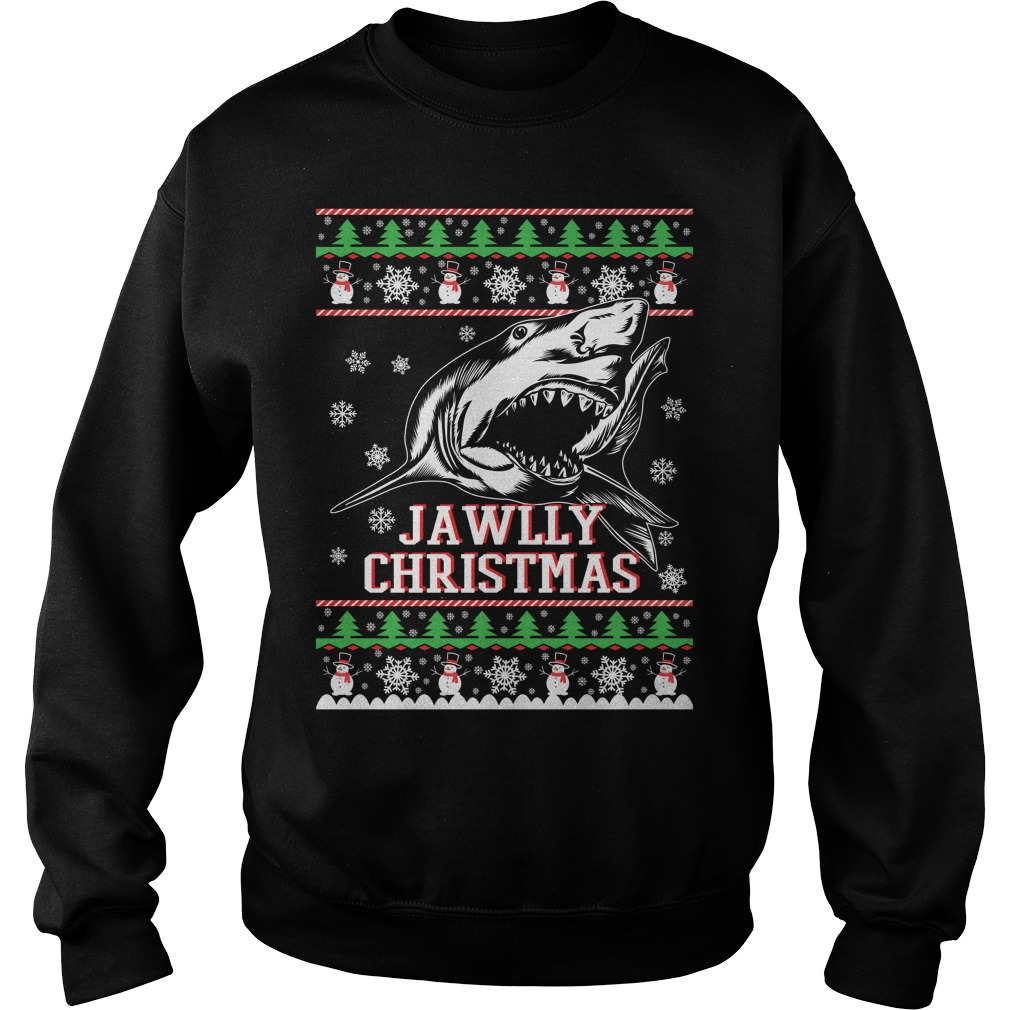 Jawlly Shark ugly christmas sweater