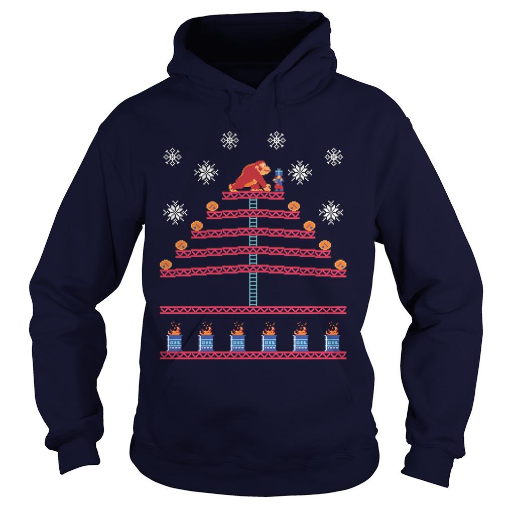 Kongmas Tree - Donkey Kong ugly Christmas Hoodie