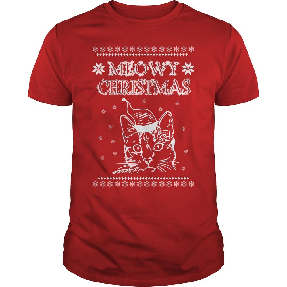 Meowy Simply Southern christmas Guys shirt