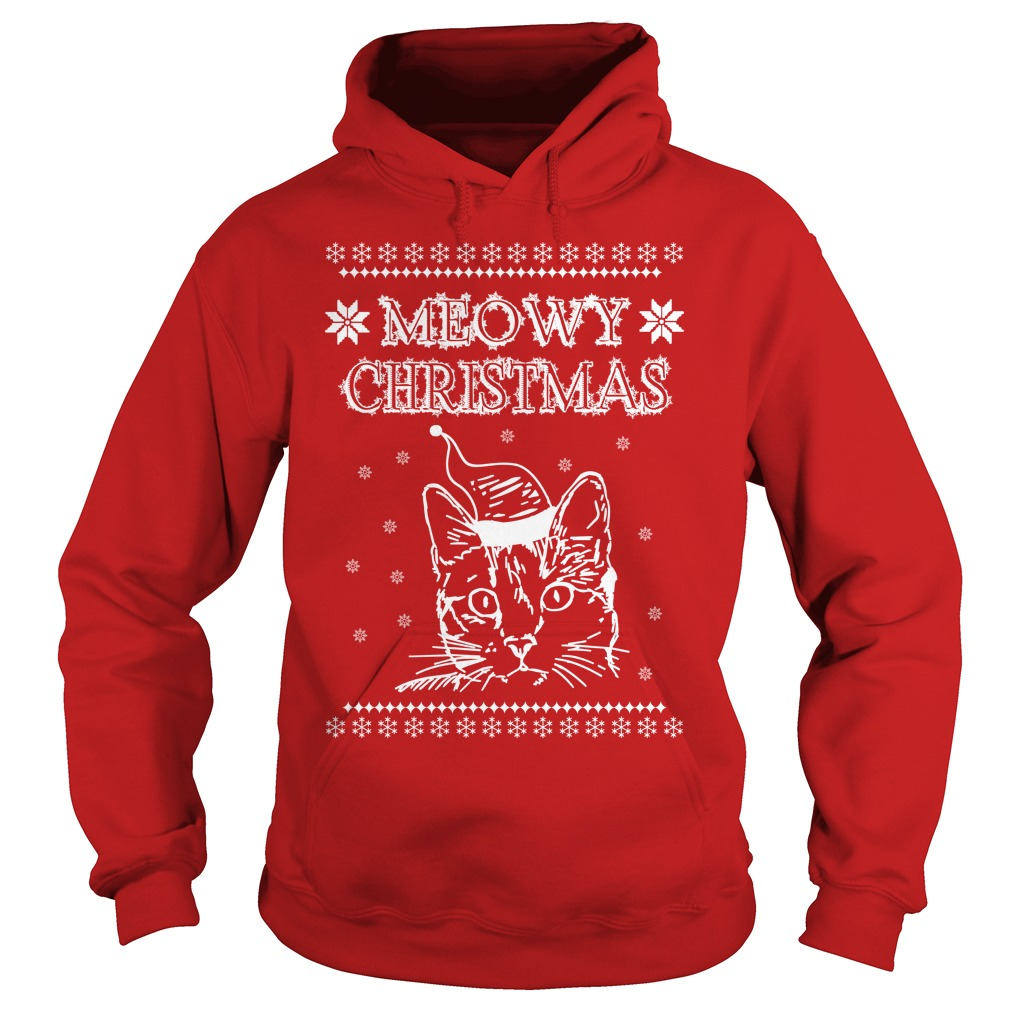 Meowy Simply Southern christmas Hoodie