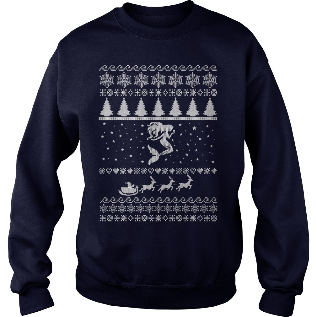 Mermaid ugly christmas sweater