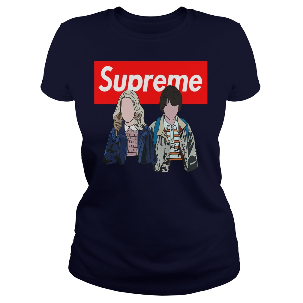 Offical Stranger things: Supreme Eleven and Mike Ladies tee