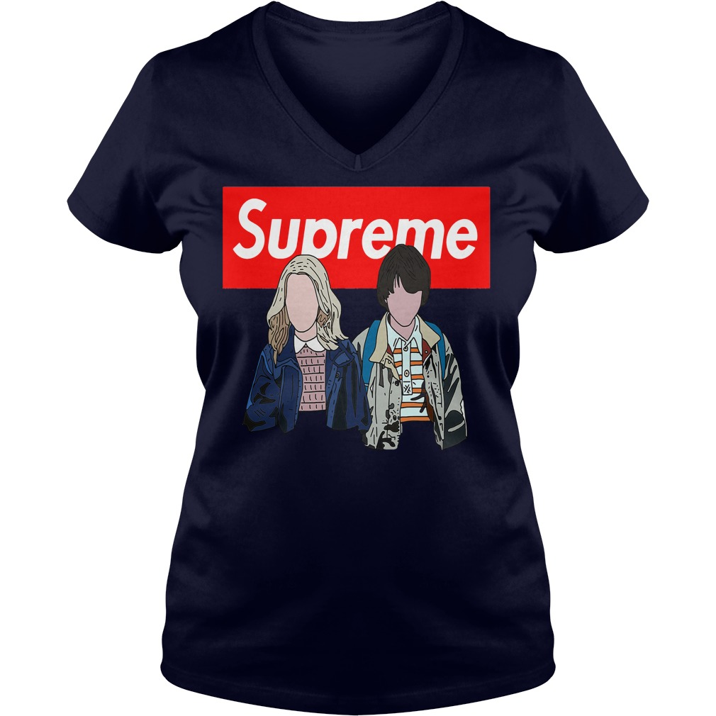 Offical Stranger things: Supreme Eleven and Mike V-neck t-shirt