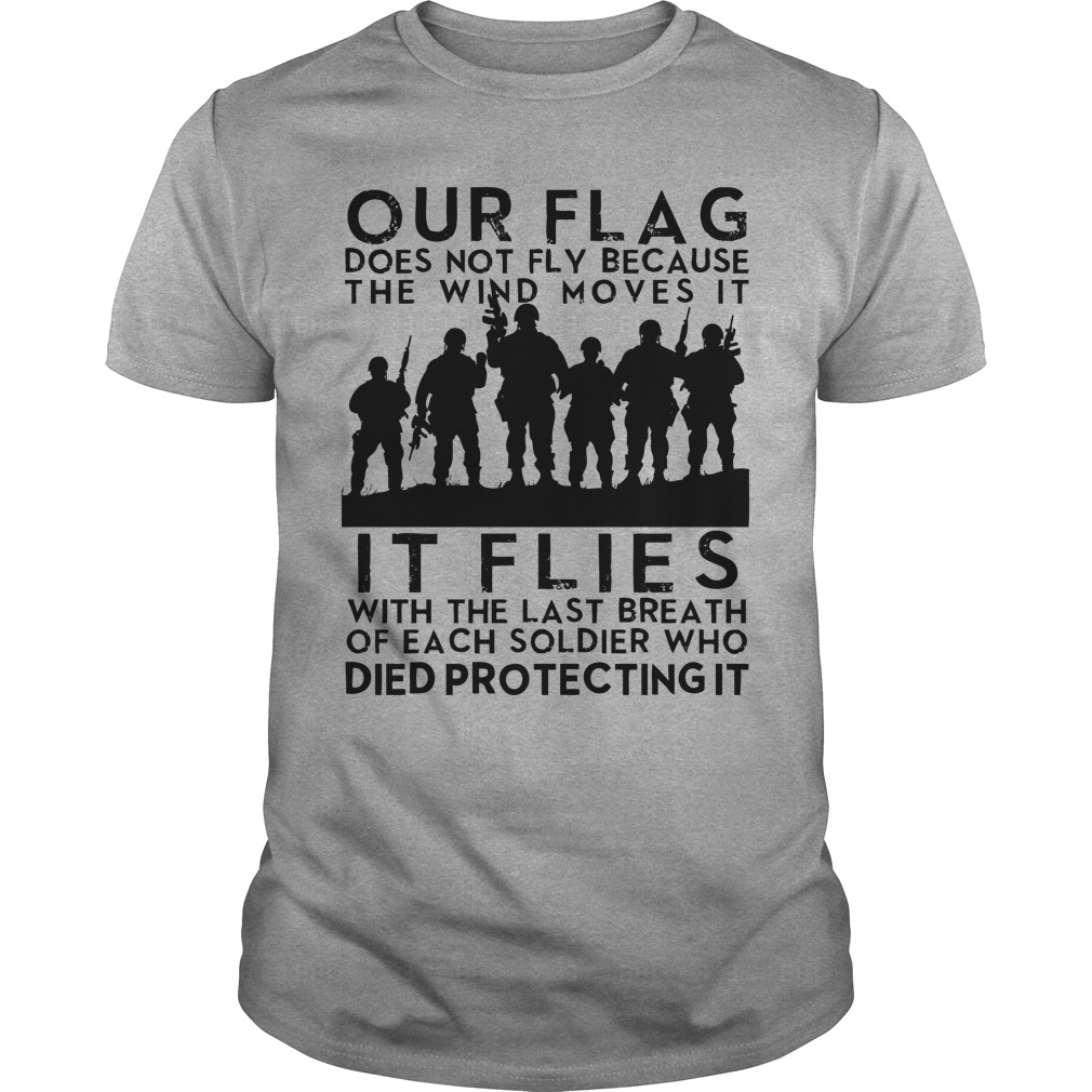 Official Flag flies with Soliders past shirt