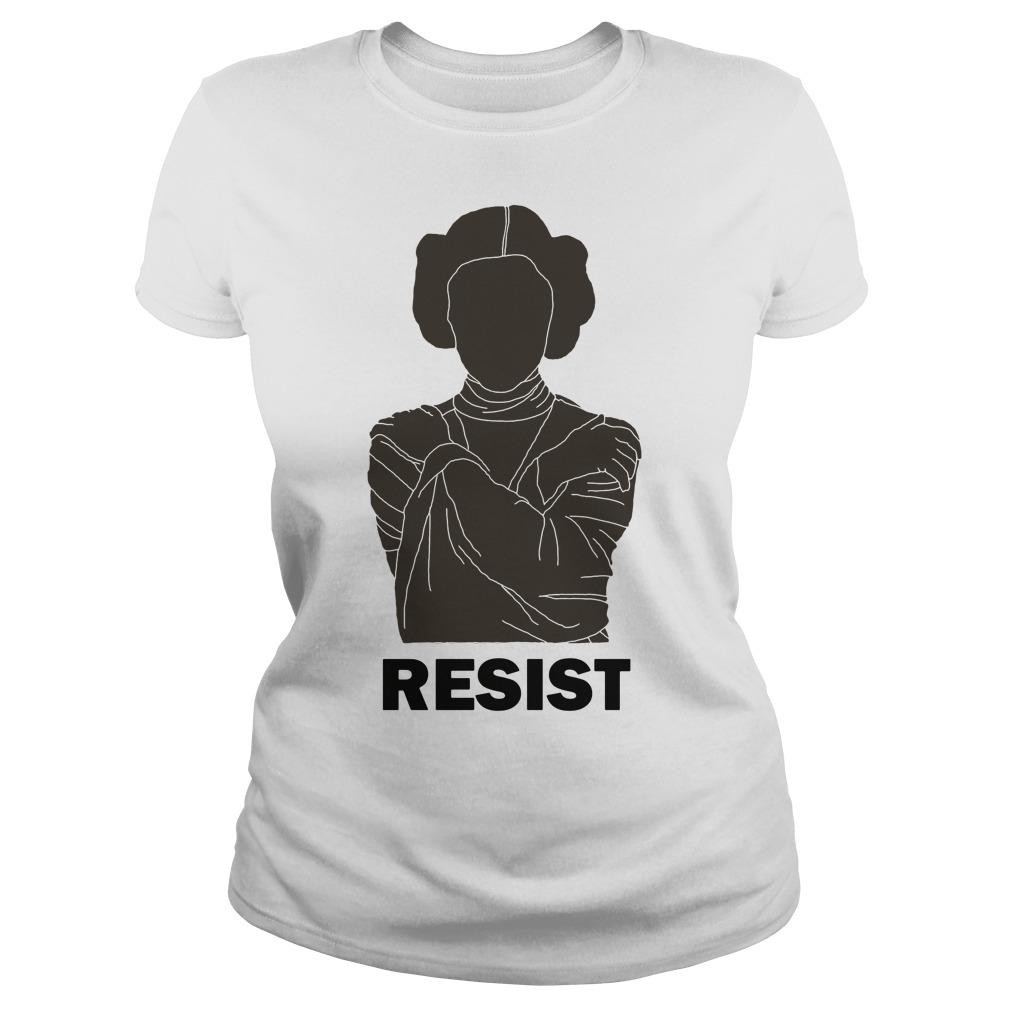 Princess Leia Resist Ladies tee