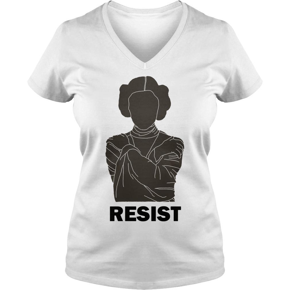 Princess Leia Resist V-neck t-shirt