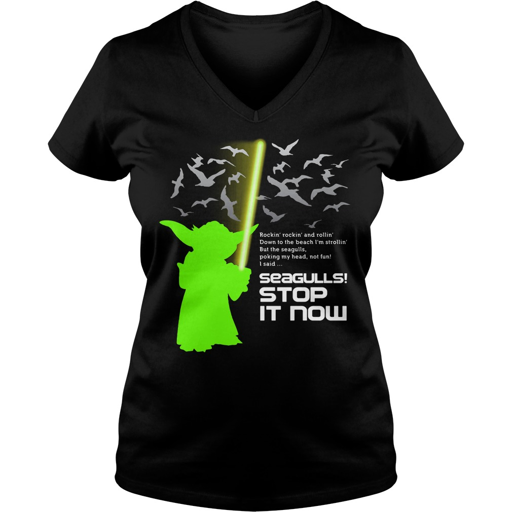Seagulls stop it now Star Wars V-neck t-shirt