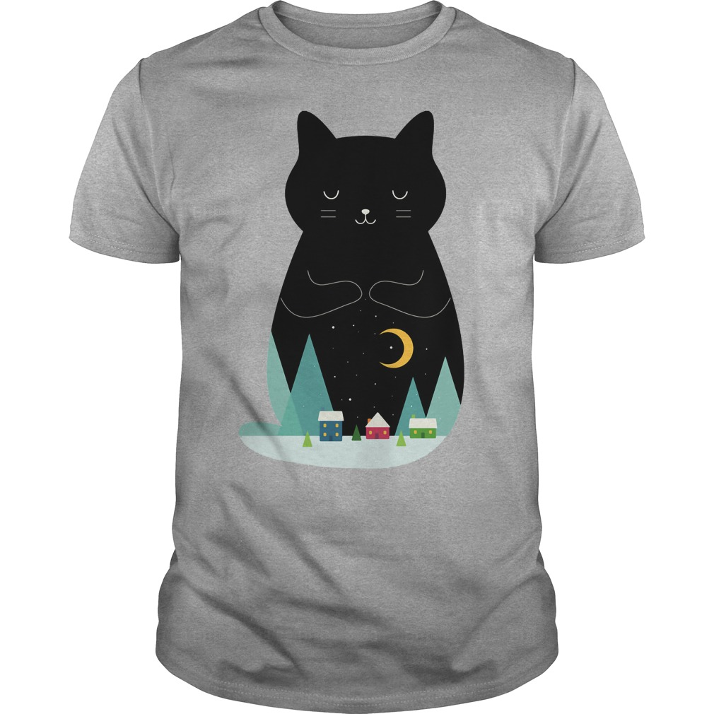 Slient night Cat shirt