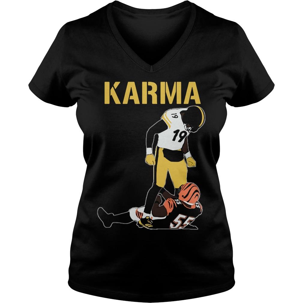 Official Steelers Karma JuJu Smith-Schuster Vontaze Burfict V-neck t-shirt