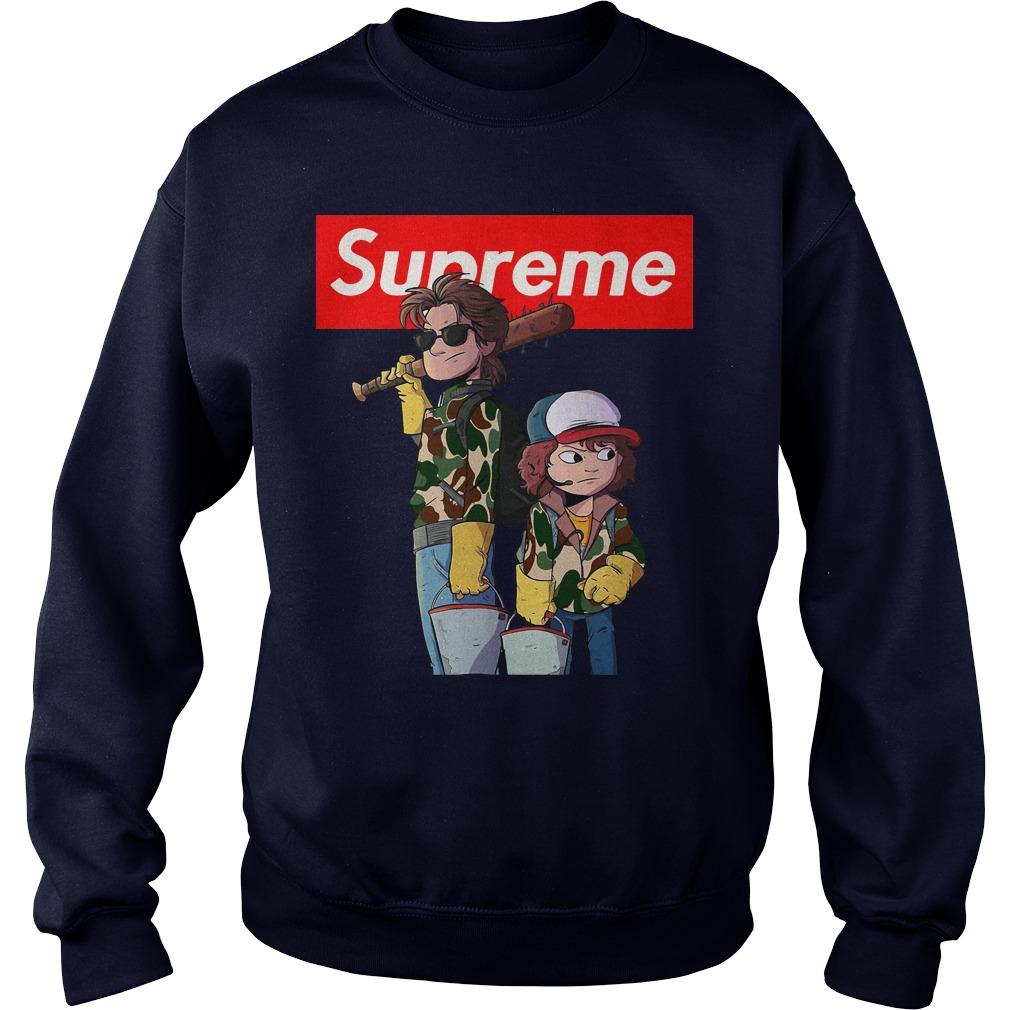 Stranger things Supreme Steve and Dustin Sweater