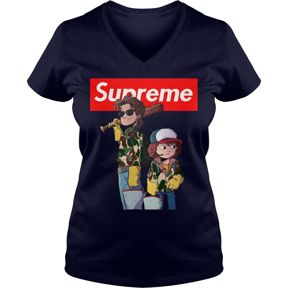 Stranger things Supreme Steve and Dustin V-neck t-shirt