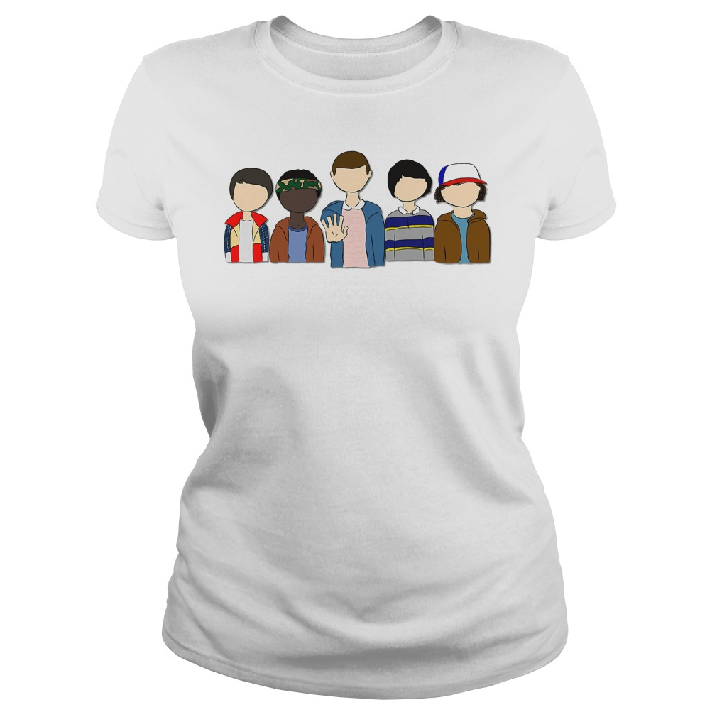 Stranger Things: Will Lucas Eleven Mike Dustin Ladies tee