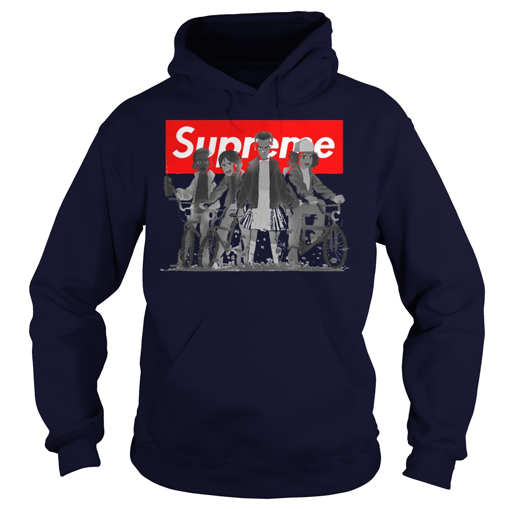 Supreme with all the Stranger things kids Hoodie