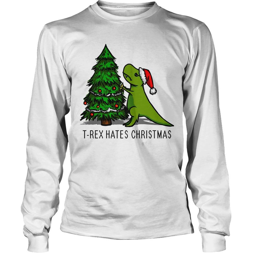 T-Rex Hates Christmas Longsleeve tee